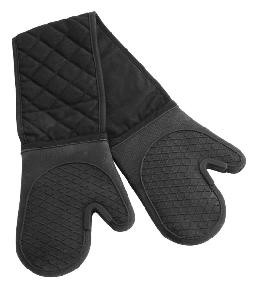 Blk silicon oven gloves CO (RT)